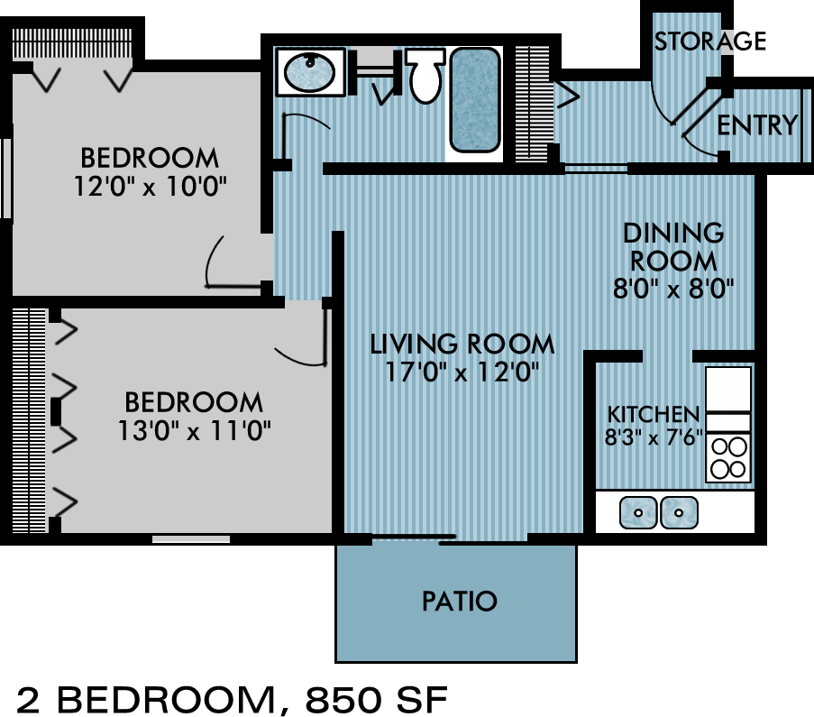 Two Bedroom Apartment Tinley Park
